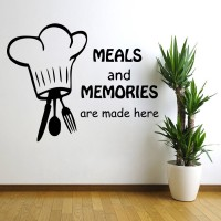 Decor Kafe Decal Style Meals And Memories Wall Art Small Size- 15*12 Inch Color - Black Wall Sticker (Pack Of 1)