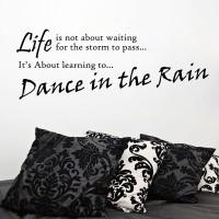 Decor Kafe Decal Style Dance In The Rain Wall Large Size-40*14 Inch Vinyl Film Sticker (Pack Of 1)