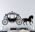 Wall Whispers Chariot And Horse Vinyl Sticker