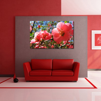 Buy generic diy red flowers birds nature wall stickers for Home decor 50 off