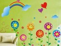 WOW Wall Sticker Sun Flower Kids PVC Removable Sticker