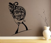 Decor Kafe Swirls In Hair Self Adhesive Wall Decal Large Size-30*44 Inch Wall Sticker Sticker (Pack Of 1)
