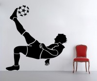 Decor Kafe Decal Style Football Player Tiny Size-15*16 Inch Vinyl Film Sticker (Pack Of 1)