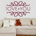DeStudio Love You Mural Hearts Cute Decal Wall Sticker Sticker