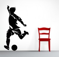 Decor Kafe Decal Style Men Hitting Ball Art Medium Size-14*25 Inch Wall Sticker Sticker (Pack Of 1)