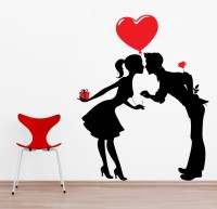 Decor Kafe Decal Style Love Buds Small Size-14*17 Inch Vinyl Film Sticker (Pack Of 1)