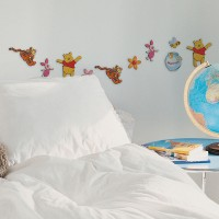 Decofun Winnie The Pooh 24 Mini Foam Elements - 23821 Wall Sticker