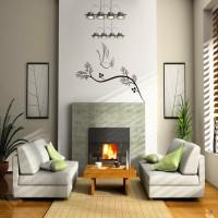 DeStudio Dove Trails Color (Black) Size (150cms X 60 Cms) Wall Sticker