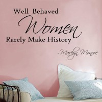 Decor Kafe Women Makes History Self Adhesive Wall Decal Large Size-30*17 Inch Wall Sticker Sticker (Pack Of 1)