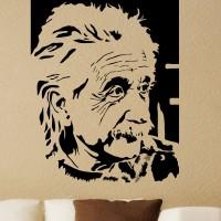 Decor Kafe Decal Style Albert Einstein Large Size-34*42 Inch Vinyl Film Sticker (Pack Of 1)