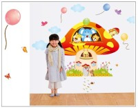 Oren Empower 2pc/set Large Size Cartoon Vinyl Wall Sticker For Kids Room Self Adhesive Sticker (Pack Of 1)