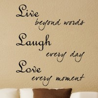 Decor Kafe Decal Style Live Laugh Love Art Small Size-20*24 Inch Wall Sticker Sticker (Pack Of 1)