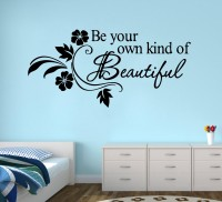 Decor Kafe Beautiful Wall Decal Small Size-18 X 08 Inch Black Vinyl Film Sticker (Pack Of 1)