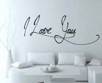 Decor Kafe I Love You Self Adhesive Wall Decal Large Size-37*14 Inch Wall Sticker Sticker (Pack Of 1)