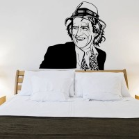 Decor Kafe Decal Style Keith Richards Large Size-37*37 Inch Vinyl Film Sticker (Pack Of 1)