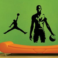 Decor Kafe Decal Style Basketball Men Small Size-25*18 Inch Vinyl Film Sticker (Pack Of 1)