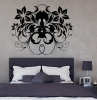 Decor Kafe Decal Style Butterfly & Flower Art Small Size-18*14 Inch Wall Sticker Sticker (Pack Of 1)