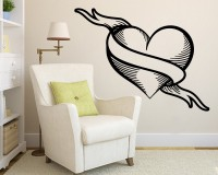 Decor Kafe Decal Style Broken Heart Art Small Size-18*13 Inch Wall Sticker Sticker (Pack Of 1)