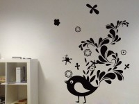 Decor Kafe Decal Style Creative Sparrow Art Tiny Size-14*18 Inch Wall Sticker Sticker (Pack Of 1)