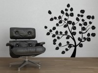Decor Kafe Summer Tree Self Adhesive Wall Decal Medium Size-30*32 Inch Wall Sticker Sticker (Pack Of 1)