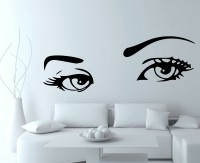 Decor Kafe Decal Style Creative Eyes Small Size-37*13 Inch Vinyl Film Sticker (Pack Of 1)