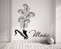 Decor Kafe Decal Style Music Art Tiny Size-14*14 Inch Wall Sticker Sticker (Pack Of 1)