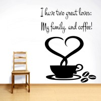 Decor Kafe Decal Style My Coffee Wall Art Small Size- 17* 23 Inch Color - Black Wall Sticker (Pack Of 1)