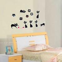 Oren Empower Glow In The Dark - Black Cat Stickers (20 Cm X Cm 40, Multicolor)