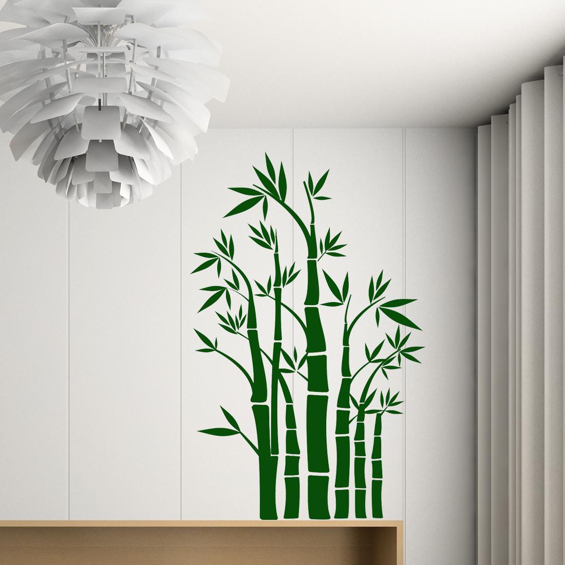 Chipakk Mini Bamboos Green Wall Decal Small Pigmented