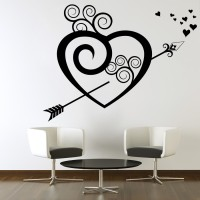 Decor Kafe Decal Style Broken Heart Art Small Size-18*14 Inch Wall Sticker Sticker (Pack Of 1)