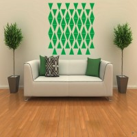 DeStudio Victorian Colors Triangle One Color (Green) Size (90cms X 60 Cms) Wall Sticker