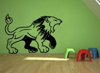 Decor Kafe Decal Style Lion Roars Art Small Size-22*15 Inch Wall Sticker Sticker (Pack Of 1)