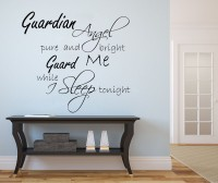 Decor Kafe Guardian Angel Sleep Self Adhesive Wall Decal Large Size-25*23 Inch Wall Sticker Sticker (Pack Of 1)