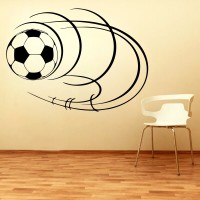 Decor Kafe Decal Style Football Art Small Size-18*13 Inch Wall Sticker Sticker (Pack Of 1)