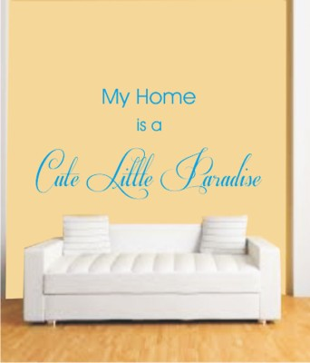 50 Off On Ritzy Home Cute Little Paradise Living Room Wall Quotes Wall Decal Sticker On Flipkart Paisawapas Com