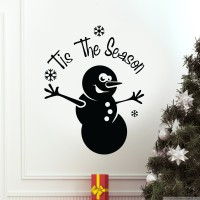 Decor Kafe Tis The Season Self Adhesive Wall Decal Small Size-12*15 Inch Color - Black Wall Sticker Sticker (Pack Of 1)
