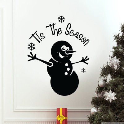 Decor Kafe Decal Style Tis The Season Large Size-21*27 Inch Color - Black Vinyl Film Sticker (Pack Of 1)