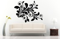 Decor Kafe Decal Style Floral Wall Decor Sticker Small Size-24*19 Inch Vinyl Film Sticker (Pack Of 1)