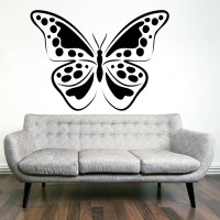 Decor Kafe Decal Style Butterfly Medium Size-36*26 Inch Vinyl Film Sticker (Pack Of 1)