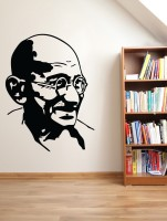 Decor Kafe Gandhi Self Adhesive Wall Decal Small Size-14*19 Inch Wall Sticker Sticker (Pack Of 1)