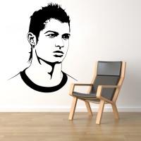 Decor Kafe Decal Style Ronaldo Medium Size- 27*35 Inch Vinyl Film Sticker (Pack Of 1)
