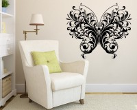 Decor Kafe Decal Style Butterfly Small Size-19*16 Inch Vinyl Film Sticker (Pack Of 1)