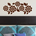 DeStudio Floral Decor Flowers Border Mural Decal Wall Sticker Sticker