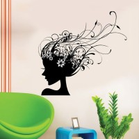 Aquire Black Lady With Vine Hairs 5770 PVC Vinyl Sticker (Pack Of 1)