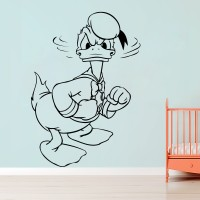 Décor Kafe Decal Style Donald Art Tiny Size -14*20 Inch Wall Sticker Sticker (Pack Of 1)