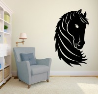 Decor Kafe Decal Style Horse Head Medium Size-23*39 Inch Vinyl Film Sticker (Pack Of 1)