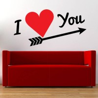 Decor Kafe Decal Style Love You Small Size-20*10 Inch Vinyl Film Sticker (Pack Of 1)