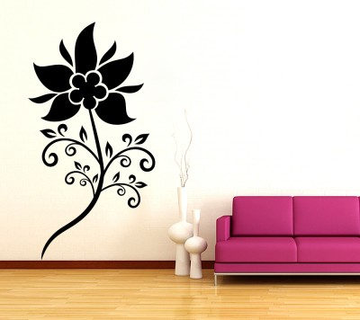 Decor Kafe Decal Style SunFlower Tiny Size-11*21 Inch Vinyl Film Sticker (Pack Of 1)