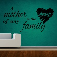 Decor Kafe Decal Style Mother Is The Heart Art Medium Size- 28*14 Inch Wall Sticker Sticker (Pack Of 1)