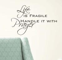 Decor Kafe Decal Style Life Prayer Wall Medium Size-23*15 Inch Vinyl Film Sticker (Pack Of 1)